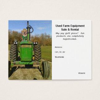 Lustige/niedliche benutzte landwirtschaftliche visitenkarte