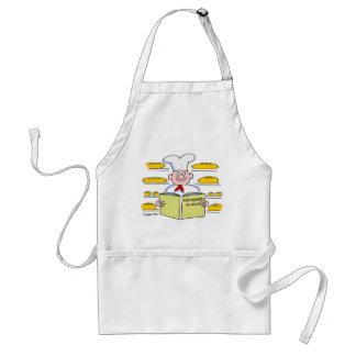 Lustige niedliche Brot-Bäcker-Cartoon-Schürze Schürze