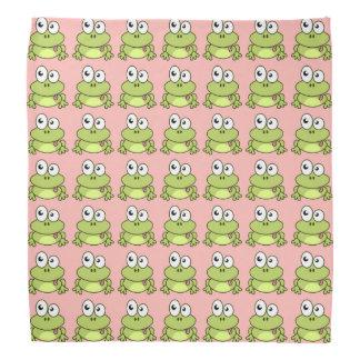 Lustige niedliche Frosch-Cartoonkinder Kopftuch