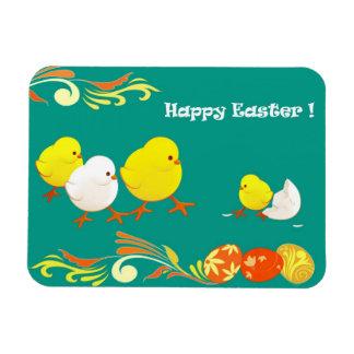 Lustige Ostern-Küken. Ostern-Geschenk-Magnet Vinyl Magnete
