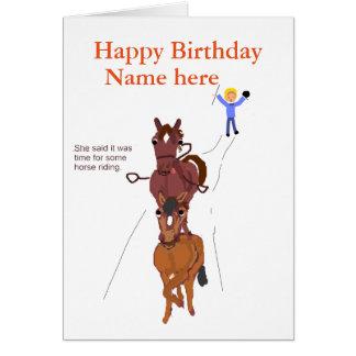 Lustige Pferdewitzkarte, Geburtstag Grußkarte