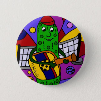 Lustige Pickleball abstrakte Kunst-Vorlage Runder Button 5,1 Cm