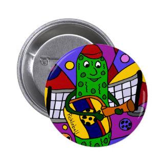 Lustige Pickleball abstrakte Kunst-Vorlage Runder Button 5,1 Cm
