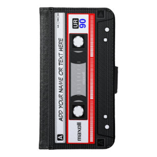 Lustige Retro Musik-Kassette Samsung Galaxy S6 Geldbeutel Hülle