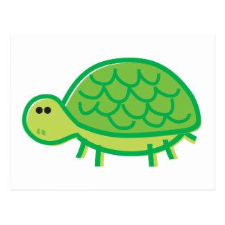 Lustige Schildkröte auf Weiß Postkarte