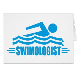 Lustige Schwimmen Karte