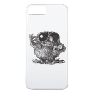 Lustige tierische coole Eule iPhone 7 Plus Hülle
