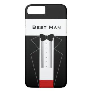 Lustige Tuxedo-Trauzeuge-Hochzeit iPhone 7 Plus Hülle