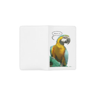 Lustige Unterhaltungs-Papageien-Notizbuchtasche Moleskine Taschennotizbuch