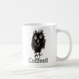 Lustige verrückte niedliche Eule Kaffee-Pauls Tasse