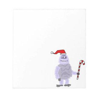 Lustige WeihnachtsYeti Notizblock