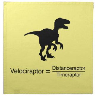 lustige Wissenschaft des Velociraptor Serviette