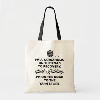 Lustige Yarnaholic Taschen-Tasche Budget Stoffbeutel