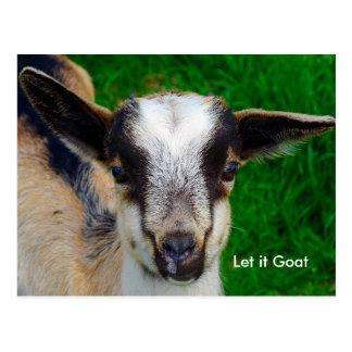 Lustige Ziegen-Parodie Postkarte
