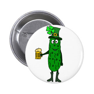 Lustigen Essiggurken-St Patrick Tageskunst Runder Button 5,1 Cm