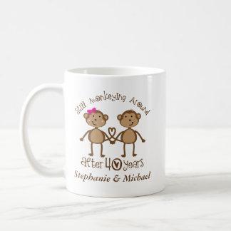 Lustiger 40. Hochzeits-Jahrestag sein ihrs Tassen