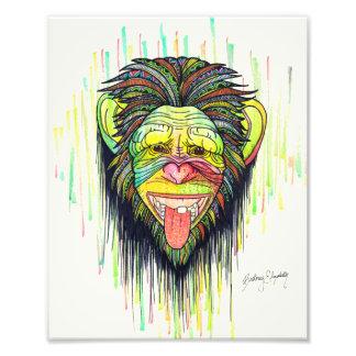 Lustiger Affe Fotodruck