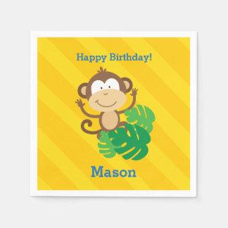 Lustiger Affe in den Dschungel-personalisierten Servietten