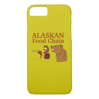 Lustiger Alaska-Andenken-Nahrungskette-Bär und iPhone 8/7 Hülle