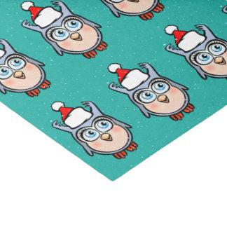 Lustiger Baby-Schrei mit der Weihnachtsmannmütze, Seidenpapier