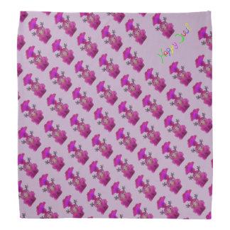 Lustiger Bandana für Mädchen - Lila Kopftuch