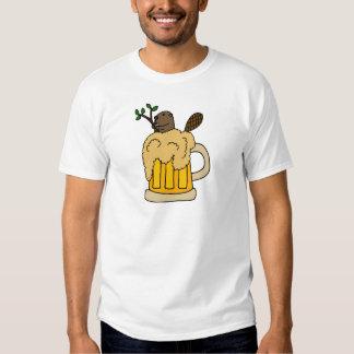 Lustiger Biber in der Bier-Tasse Hemden