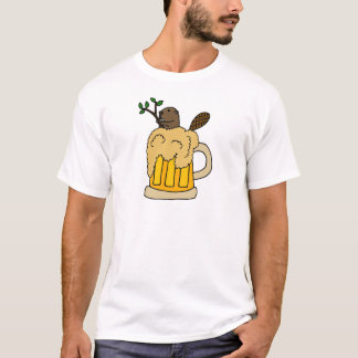 Lustiger Biber in der Bier-Tasse T-Shirt