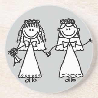Lustiger Braut-homosexuelle Heirat-Cartoon Bierdeckel