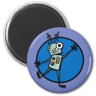 LUSTIGER CARTOON-ART-ROBOTER-RUNDER MAGNET RUNDER MAGNET 5,7 CM