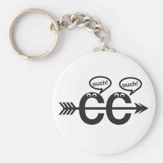 Lustiger Cross Country-laufender Läufer Keychain- Standard Runder Schlüsselanhänger