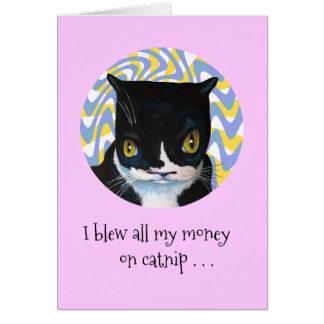 Lustiger Dang Katzen-Geburtstag Mitteilungskarte