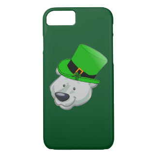 Lustiger Eisbär iPhone Fall - Tag St. Patricks iPhone 8/7 Hülle