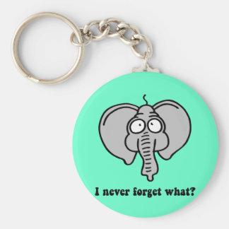 Lustiger Elefant Standard Runder Schlüsselanhänger