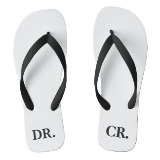 Lustiger erklärender Dr-CR Debet-Kredit-Buchhalter Flip Flops