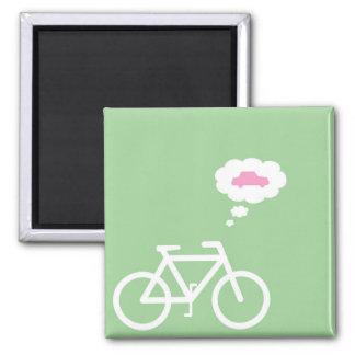 Lustiger Fahrrad-Magnet Quadratischer Magnet