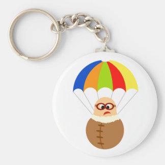 Lustiger Fallschirm Keychain Standard Runder Schlüsselanhänger