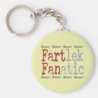 Lustiger FARTlek fanatischer © Läufer Standard Runder Schlüsselanhänger
