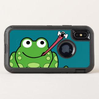 Lustiger Frosch und Fliege OtterBox Defender iPhone X Hülle