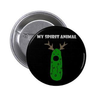 Lustiger Geist-Tieressiggurke mit den Geweihen Runder Button 5,7 Cm