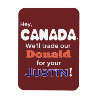 Lustiger Geschäftsdonald für Justin-Magneten Magnet