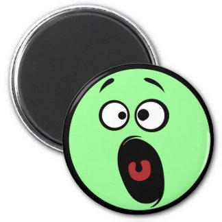 Lustiger Gesichts-Kühlschrank-Magnet Runder Magnet 5,7 Cm