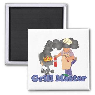 Lustiger Grill-Hauptgrill Quadratischer Magnet