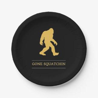 Lustiger großer Fuß gegangenes Squatchin Sasquatch Pappteller