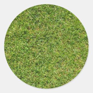 Lustiger grünes Gras-Rasen Runder Aufkleber