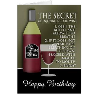 Lustiger guter Wein-Geburtstag Karte