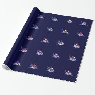 Lustiger Haifisch-tragende Geschenkpapier