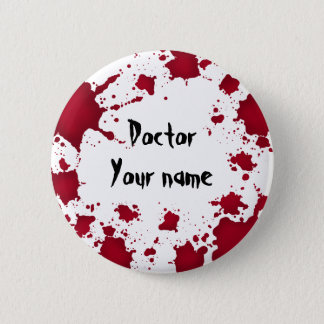Lustiger Halloween-Doktor Runder Button 5,1 Cm