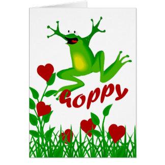 Lustiger hopfenreicher Valentinsgruß-Frosch-Gruß Karte