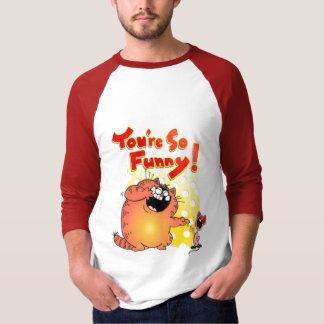 Lustiger humorvoller Katzen-und Mäuse-\ T-Shirt