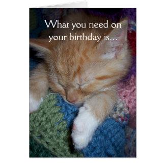 Lustiger Kätzchen-Geburtstag Karte